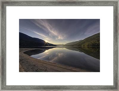 Kootenay Lake Sunrise Framed Print by Mark Kiver