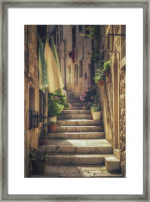 Korcula Alley No 1 Framed Print by Chris Fletcher