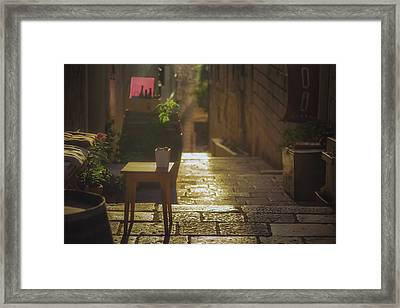 Korcula Alley No 2 Framed Print by Chris Fletcher