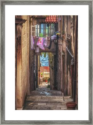 Korcula Alley No 4 Framed Print by Chris Fletcher