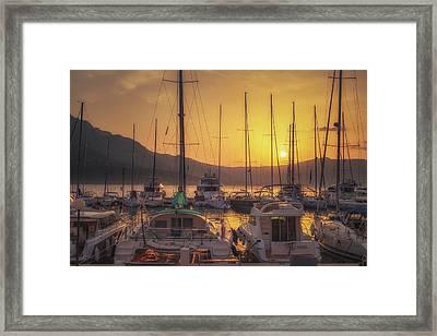 Korcula Sunrise No 2 Framed Print by Chris Fletcher