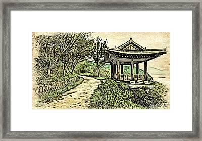Korean Architecture Framed Print