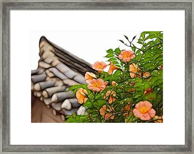 Framed Print featuring the photograph Korean Beauty by Cameron Wood
