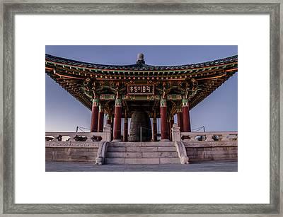 Korean Friendship Bell Framed Print by Carlos Sanchez