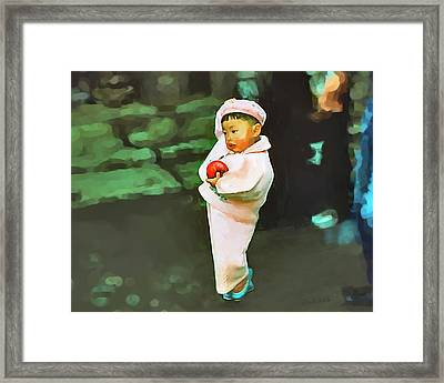 Framed Print featuring the photograph Korean Pink by Dale Stillman