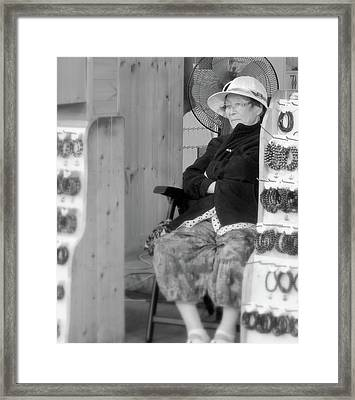Korean Shopkeeper Framed Print by Susan Lafleur