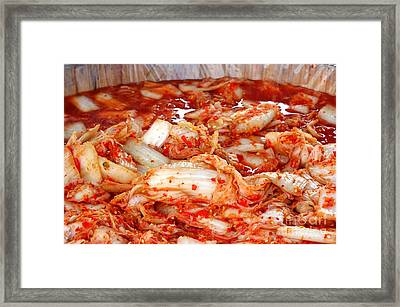 Korean Style Fermented Spicy Cabbage Framed Print