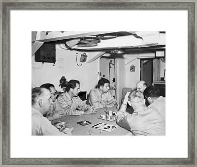 Korean War Correspondents Framed Print by Underwood Archives