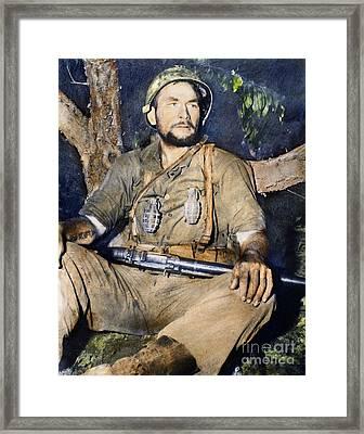 Korean War: G.i., 1950 Framed Print by Granger