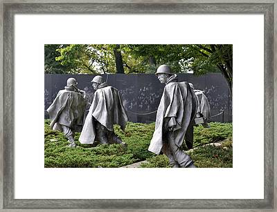 Korean War Memorial 3 Framed Print by Teresa Blanton