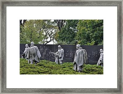 Korean War Memorial 4 Framed Print by Teresa Blanton