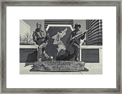 Korean War Memorial Nashville Framed Print by Dan Sproul