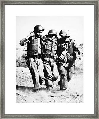 Korean War Pork Chop Hill Framed Print by Granger