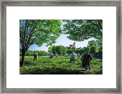 Korean War Veterans Memorial #8 Framed Print