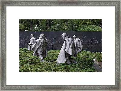 Korean War Veterans Memorial Framed Print by Lois Lepisto