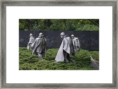 Korean War Veterans Memorial Framed Print