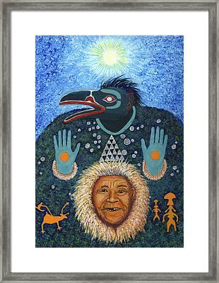 Koryak Raven Shamaness  Framed Print