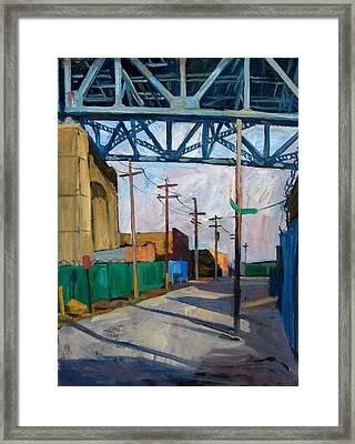 Kosciuszko Bridge Shadows Framed Print by Thor Wickstrom