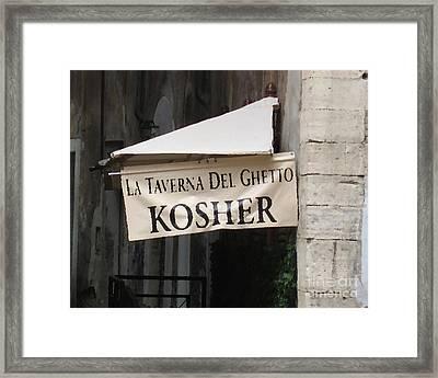 Kosher Framed Print by Rhonda Chase