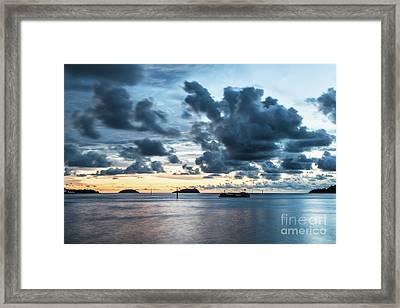 Kota Kinabalu Sunset Framed Print