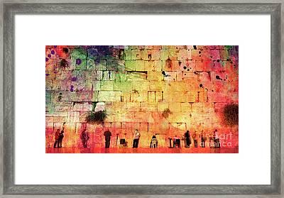 Kotel Framed Print