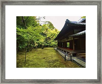Koto-in Zen Temple Maple And Moss Garden - Kyoto Japan Framed Print