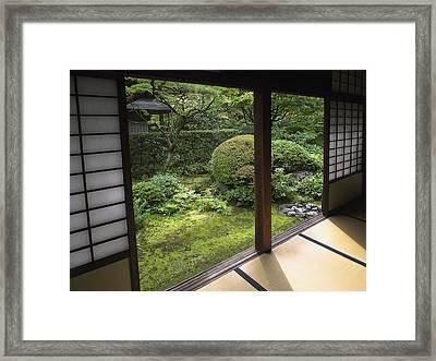 Koto-in Zen Temple Side Garden - Kyoto Japan Framed Print by Daniel Hagerman
