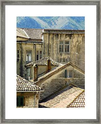 Kotor Rooftops Framed Print