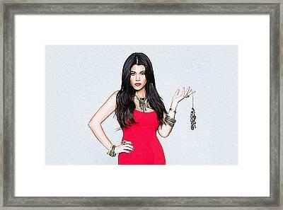 Kourtney Kardashian Framed Print