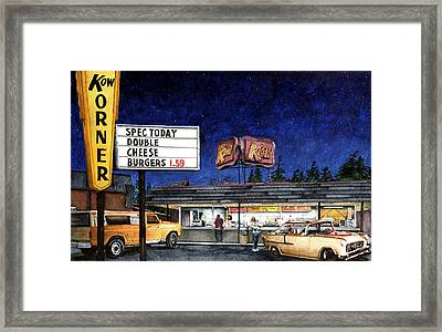 Kow Framed Print by Perry Woodfin