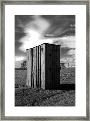 Koyl Cemetery Outhouse Framed Print by Curtis J Neeley Jr