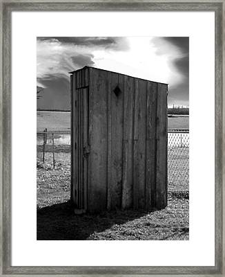 Koyl Cemetery Outhouse5 Framed Print by Curtis J Neeley Jr