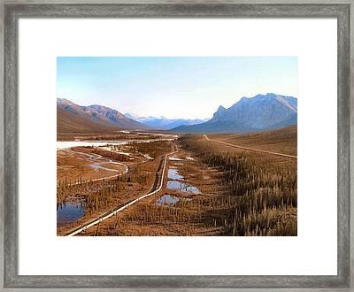 Koyukuk River Valley Framed Print by Adam Owen