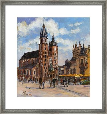 Krakow - Mariacki Church Framed Print
