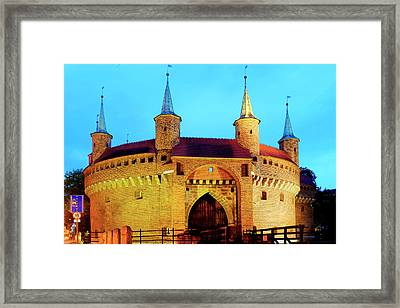 Framed Print featuring the photograph Krakow Barbican by Fabrizio Troiani