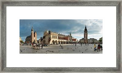 Krakow's Grand Square Framed Print by Robert Lacy