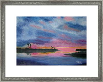 Kramer Island Sunset Framed Print