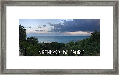Kranevo Bulgaria Framed Print