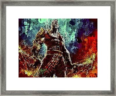 Kratos Framed Print