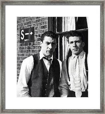Kray Brothers London Prime Painterly Framed Print by Daniel Hagerman