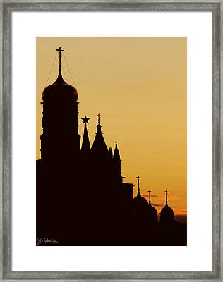 Kremlin Dusk Framed Print by Joe Bonita