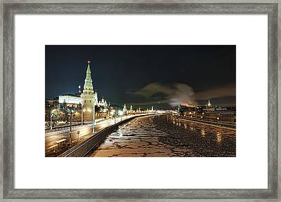 Framed Print featuring the photograph Kremlin View by Gouzel -