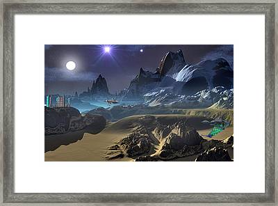 Krill City Stardock. Framed Print by David Jackson