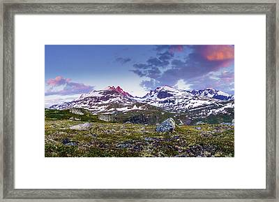 Framed Print featuring the photograph Crimson Peaks by Dmytro Korol
