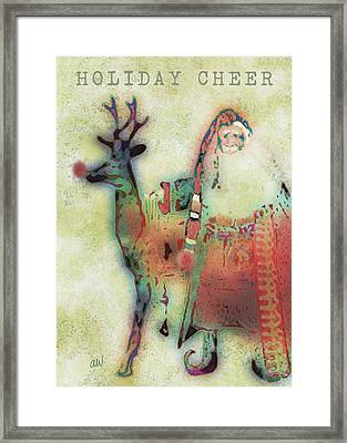Kris And Rudolph Framed Print