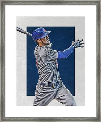 Kris Bryant Chicago Cubs Art 3 Framed Print by Joe Hamilton