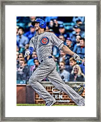 Kris Bryant Chicago Cubs Framed Print by Joe Hamilton
