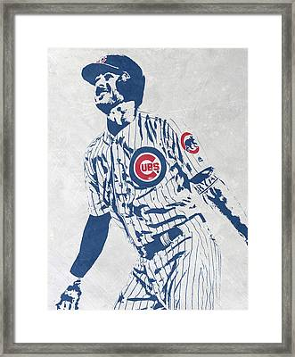 kris bryant CHICAGO CUBS PIXEL ART 1 Framed Print
