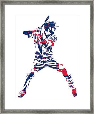 Kris Bryant Chicago Cubs Pixel Art 10 Framed Print