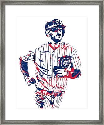 Kris Bryant Chicago Cubs Pixel Art 11 Framed Print